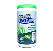 Green & Clean™  All Purpose Wet Wipes